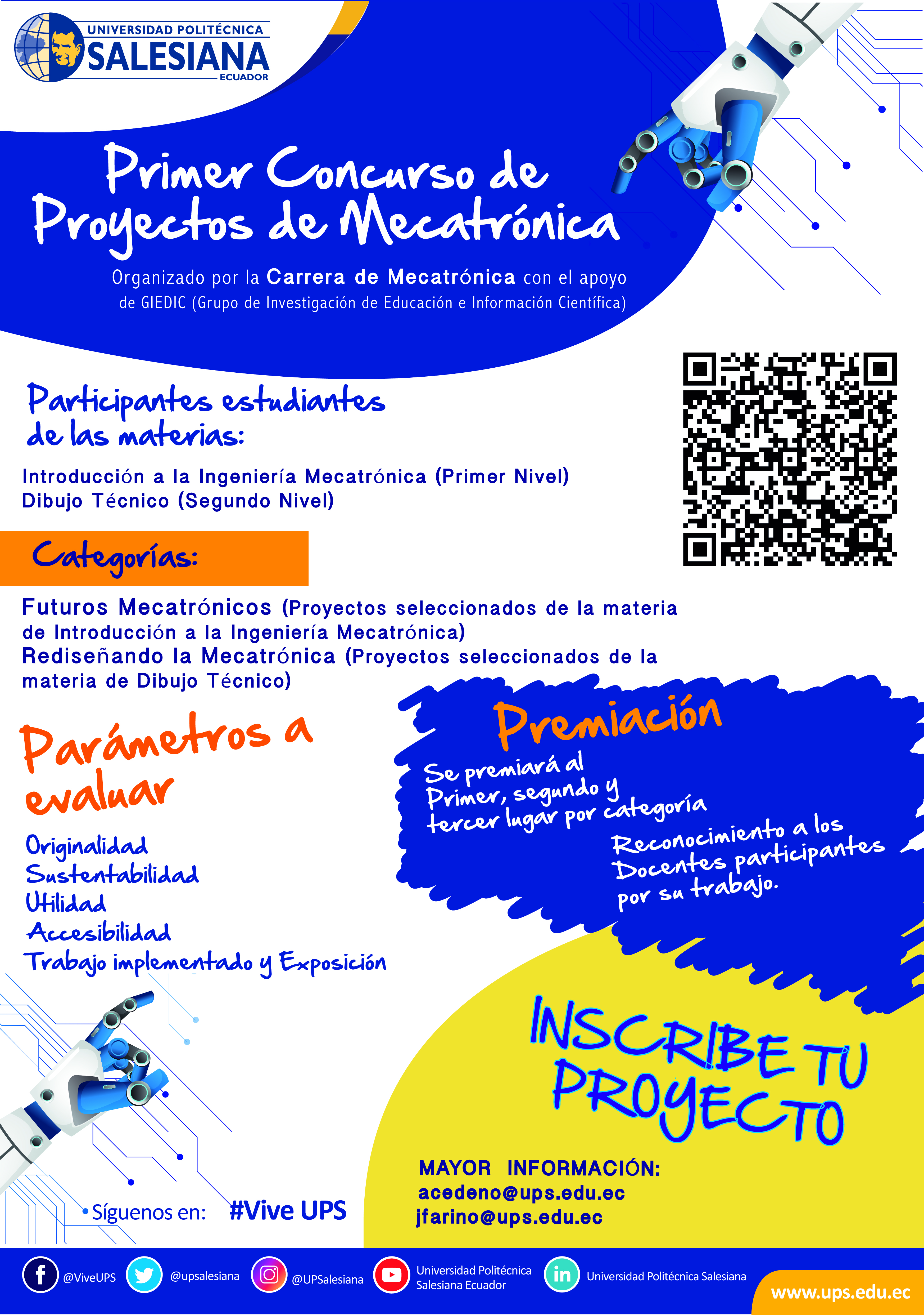 First competition of mechatronic projects - UPS