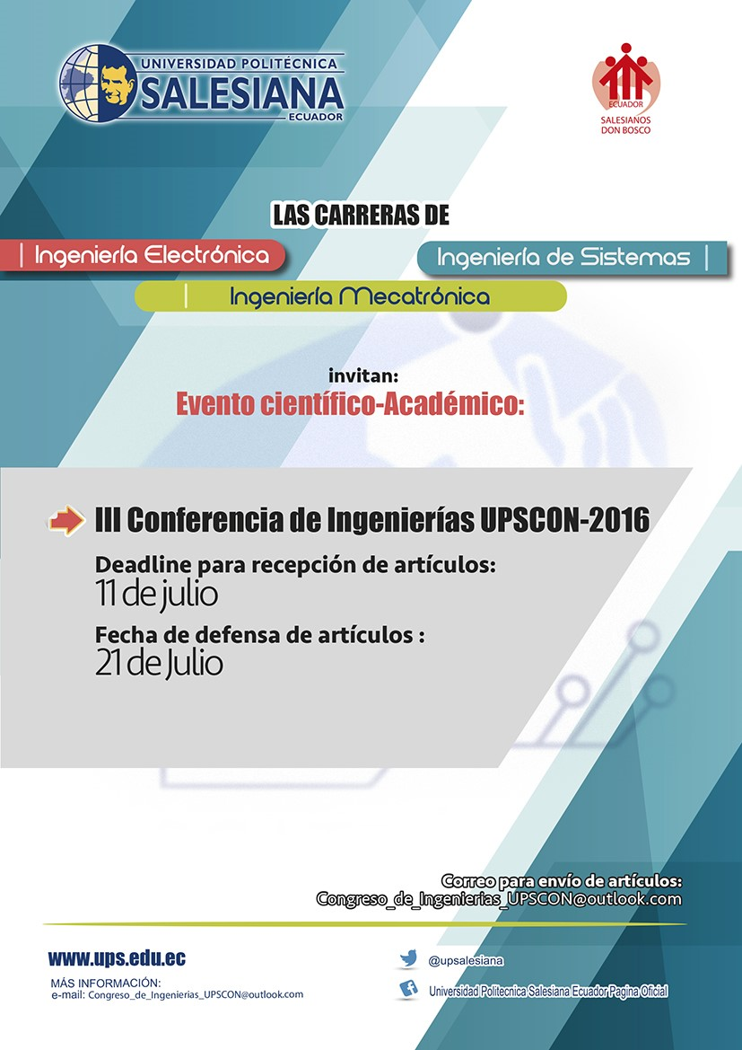 III Conferencia de Ingenierías UPSCON 2016 - UPS