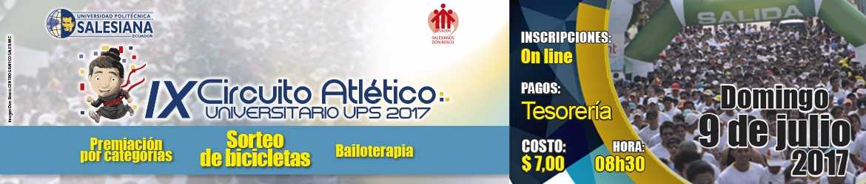 Circuito Ups : Ix circuito atlético universitario ups 2017 ups