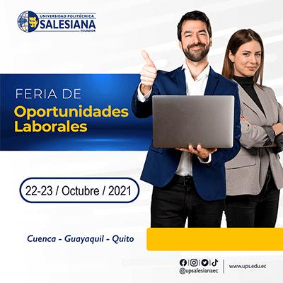 Afiche del evento Feria de Oportunidades Laborales 2021
